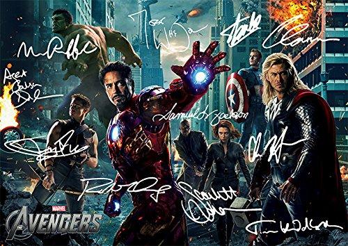 Avengers (11.7 X 8.3) Movie Print Robert Downey Jnr Chris Hemsworth Scarlett Johansson Jeremy Renner Joss Whedon ()