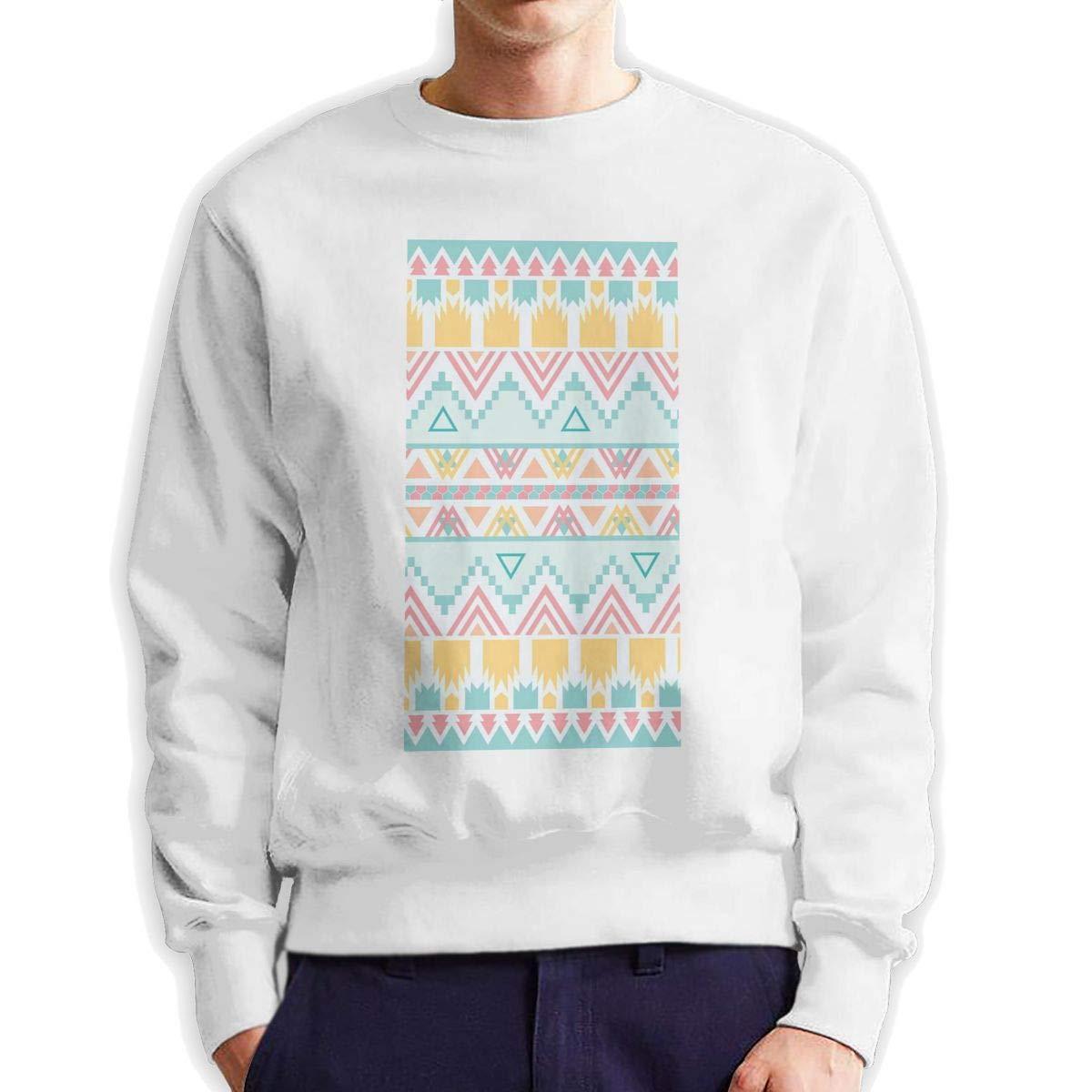 RUANJB Mens Lovely Background Long Sleeve Crewneck Sweatshirt