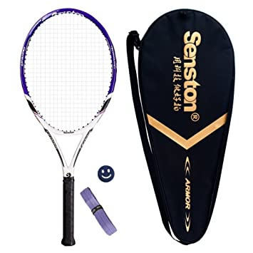 77f1c7042 Senston Raqueta de Tenis unisex,Incluido Bolsa de Tenis / 1 grip / 1  Amortiguadores,Púrpura: Amazon.es: Deportes y aire libre