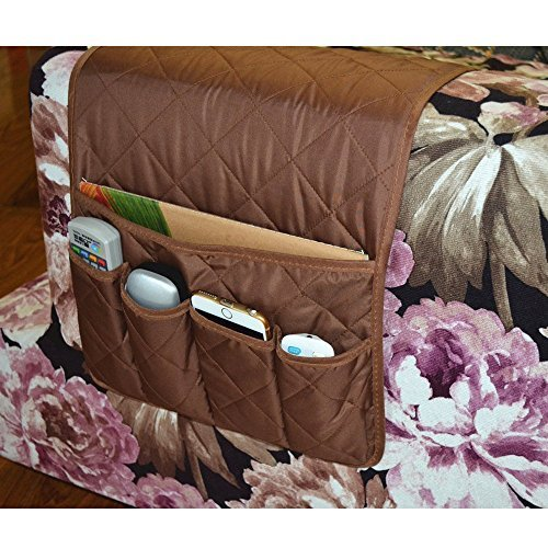 Efivs Arts 5 Pockets Sofa Couch Double Sided Waterproof Armrest Organizer For Remote Control, Mgazine, Book, Newspaper, Phone 35