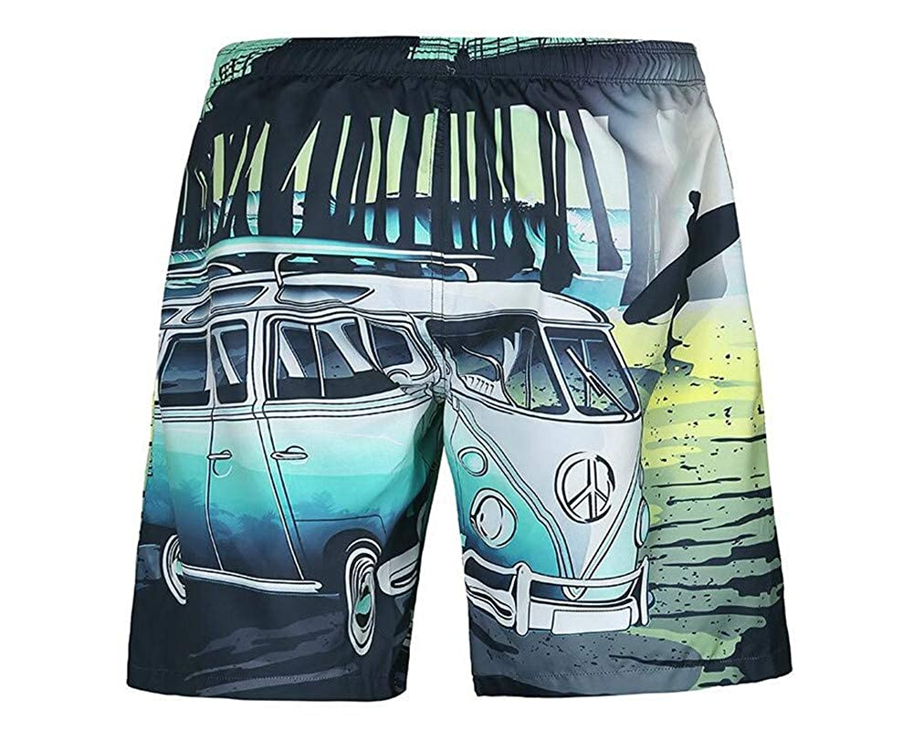 Mens Swim Trunks Summer Cool Quick Dry Board Shorts Bathing Suit with Pockets
