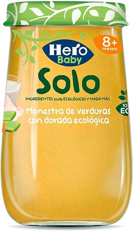 Hero Baby Solo Jardinera de Ternera Tarrito de Puré Ecológico Alimento para Bebés a partir de 6 meses, 190g, 1 unidad: Amazon.es: Alimentación y bebidas