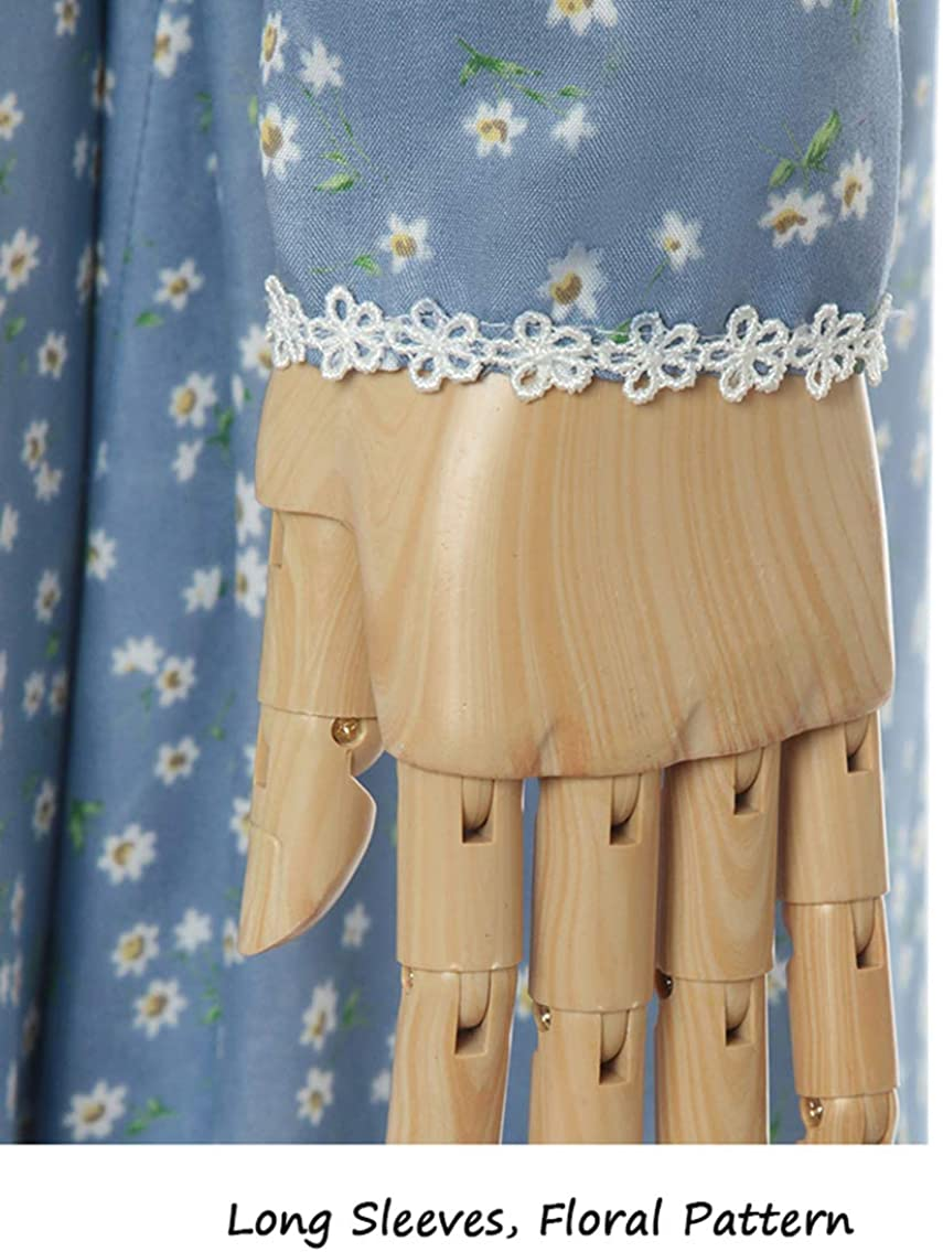 ROLECOS Pioneer Women Costume Floral Prairie Dress Deluxe Colonial Dress Laura Ingalls Costume
