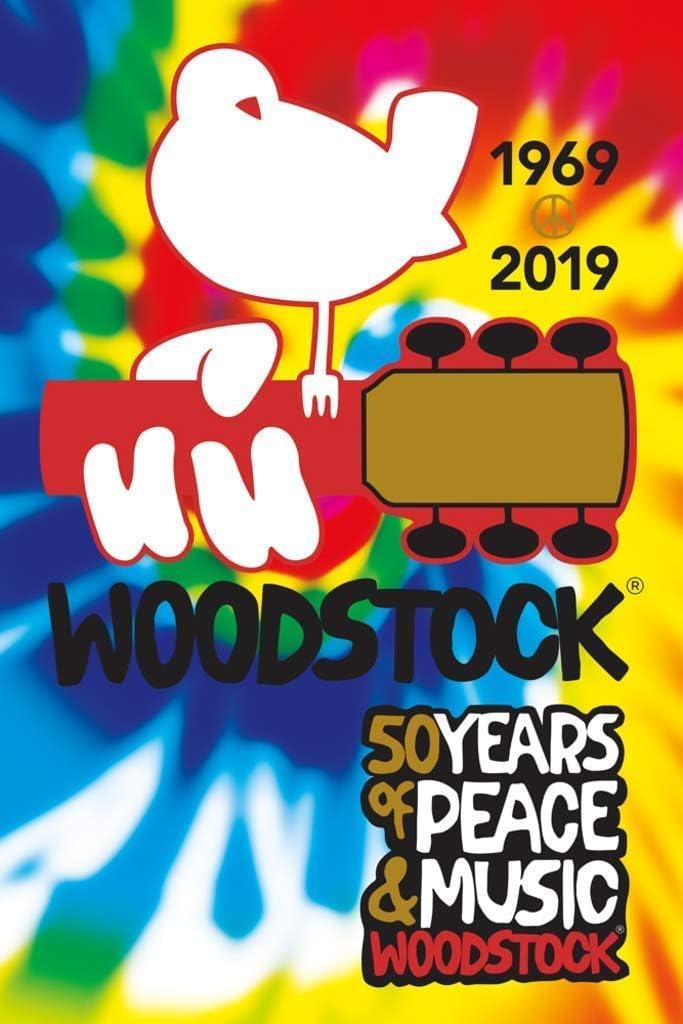 Studio B Woodstock 50th Anniversary 1969 2019 Tie Dye Music Poster 24x36 Inch