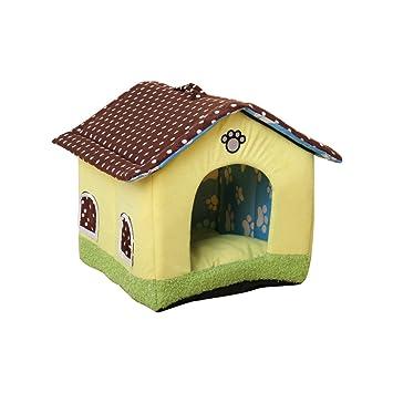 Aurantiaco Lovely Cama para Perro o Gato Lavable Mascota Nido Dulce casa Interior con cojín extraíble: Amazon.es: Productos para mascotas