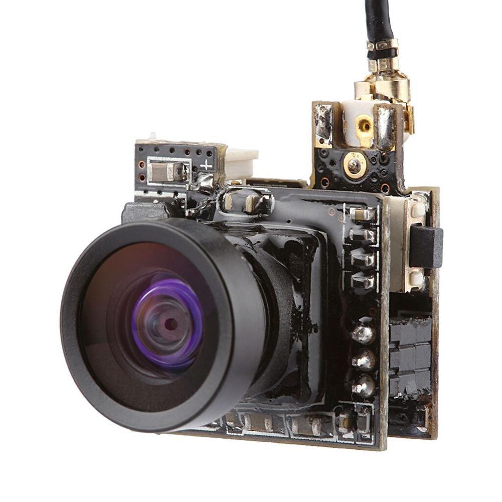 Favrison Micro AIO FPV Camera 5.8G 40CH 25MW 800TVL Lens 150° Wide Angle for FPV Quadcopter Drone