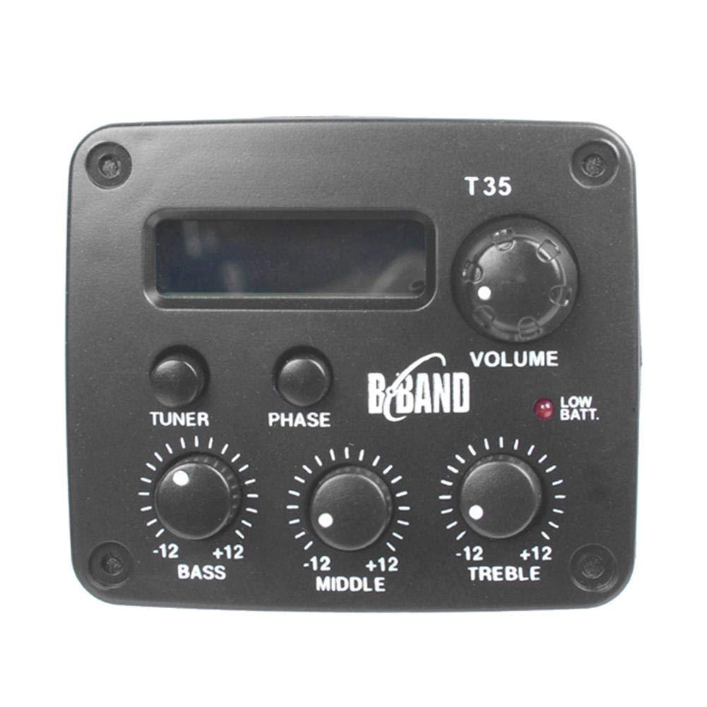 JUNERAIN B Band T65 Micro pour Guitare Acoustique avec écran chromatique Accordeur électrique intégré