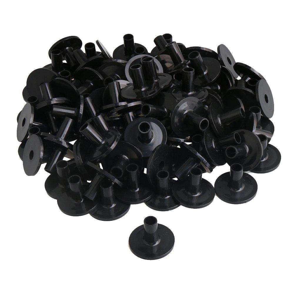 Mxfans 100pcs 3.8x2.6cm Black Flanged Long Cymbal Sleeves Savers for Drum Kit blhlltd M3180604107