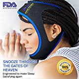 Snooze Paradise Premium Chin Strap- Advanced Jaw Strap Support That Stops Snoring- Perfect For Properly Positioning Your Jaw Shut- It Provides Help With Snoring, Sleep Apnea, Teeth Grinding, Bruxism