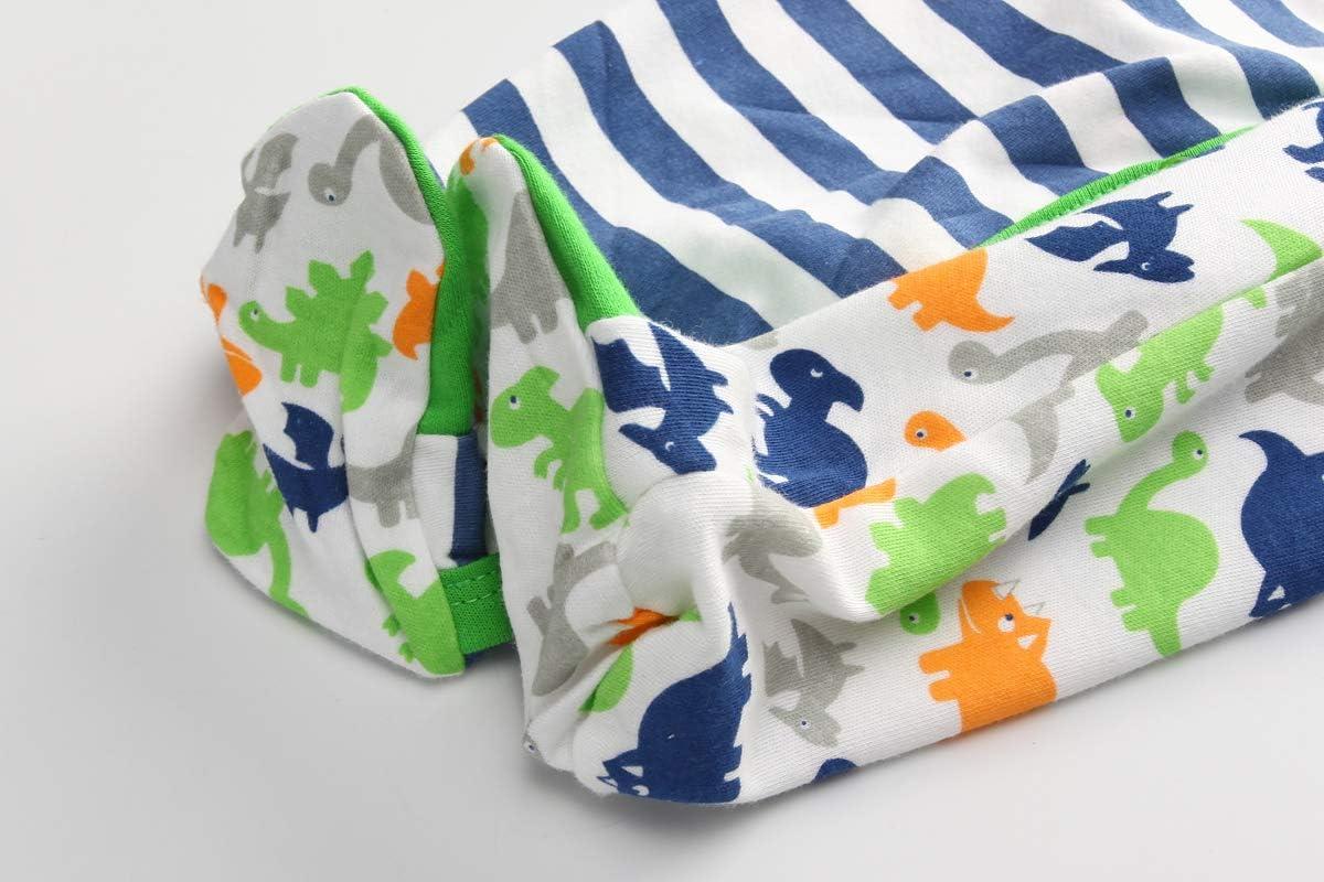 Kiddiezoom tutine pigiamino per neonato con motivo dinosauro