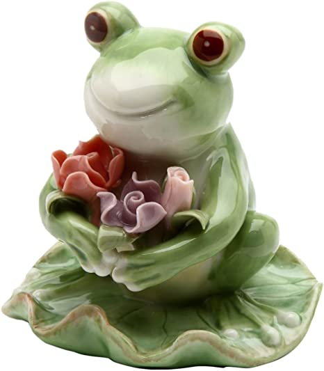 GORGEOUS FOREST FROG ON BRANCH ORNAMENT FIGURE NEW /& BOXED 80345