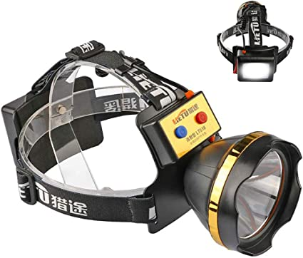 Headlamp Emergency Fishing Adjustable Flashlight Bicycle Torch Camping
