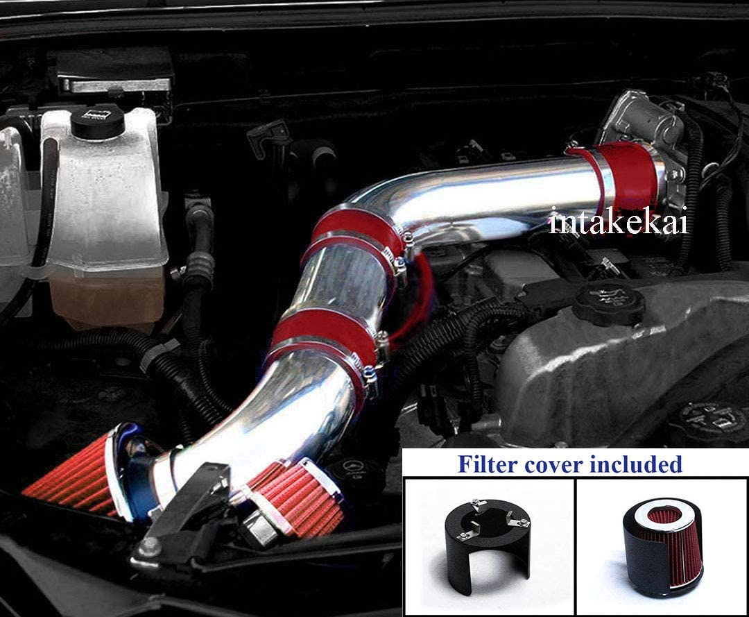 RED AIR INTAKE FIT 2007-2012 GMC CANYON CHEVY COLORADO HUMMER H3 3.7L