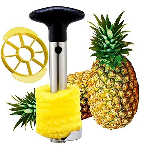 Pineapple Corer Slicer Stainless Steel Peeler Stem Remover Blades for Diced Fruit Rings
