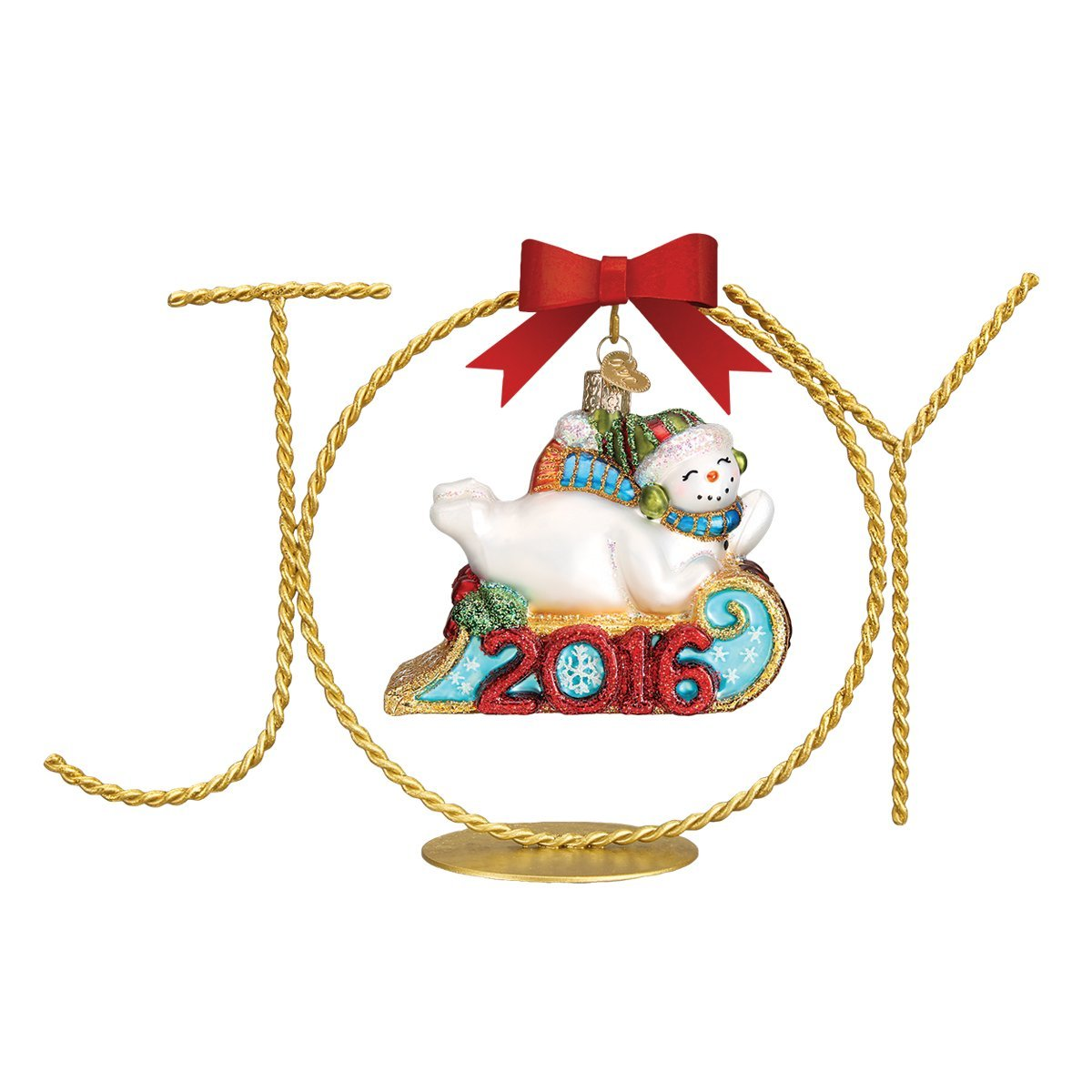 Old World Christmas Ornaments Single Joy Stand Glass Blown Ornaments For Christmas Tree