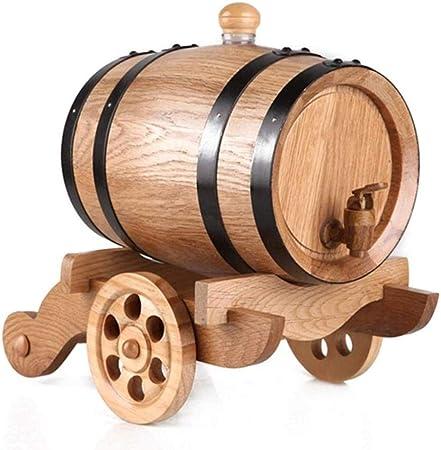 YXLONG 1.5L Whisky Barrel, Vintage Style Oak Barrel ...
