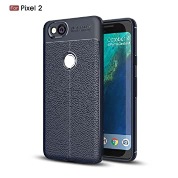 Excelsior Silicon Back Cover case for Google Pixel 2  Blue  Mobile Phone Cases   Covers