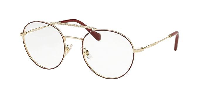 9de5b692241 Miu Miu VMU 51R BURGUNDY GOLD women Eyewear Frames  Amazon.co.uk  Clothing