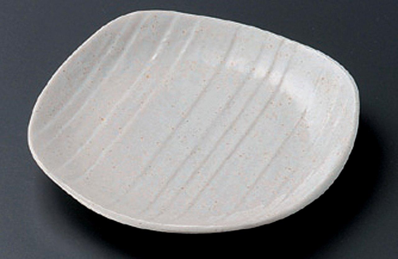 WHITE-MOKUME 15.2cm Satz von 5 Mittlerer Teller Jiki Japanisch traditionell