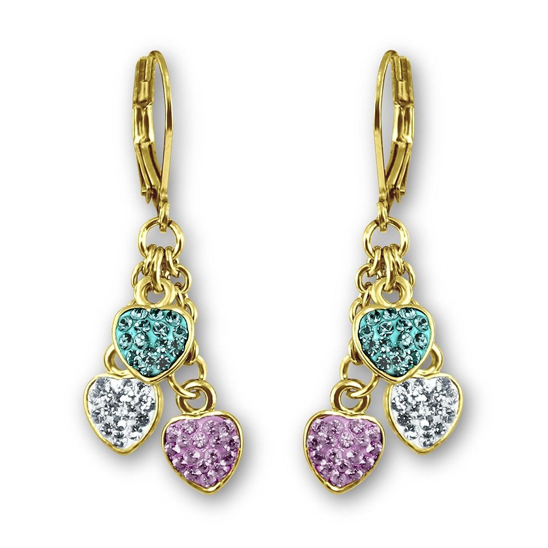 Amazon.com: Jewelry for Kids Flower Earrings for Girls   18k Gold ...