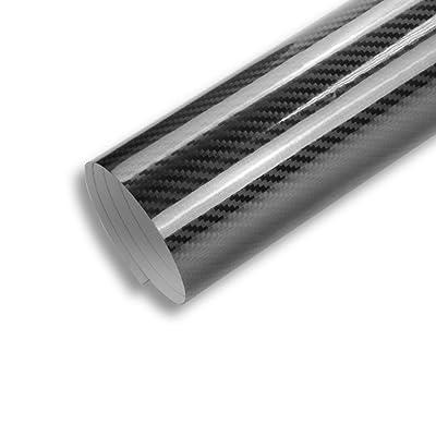 TECKWRAP 1ft x 5ft 5D High Gloss Black Carbon Fiber Vinyl Bubble Free Air Release Car Wrap Film Automotive DIY Decals: Automotive