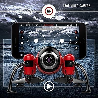 Kolibri Torpedo Micro Camera Mini Drone for kids with FPV App Video Stream, Altitude Hold, Headless Mode, One-Button Auto Take-Off & Landing, Nano Quadcopter for Beginners Model: XK2380 from Kolibri