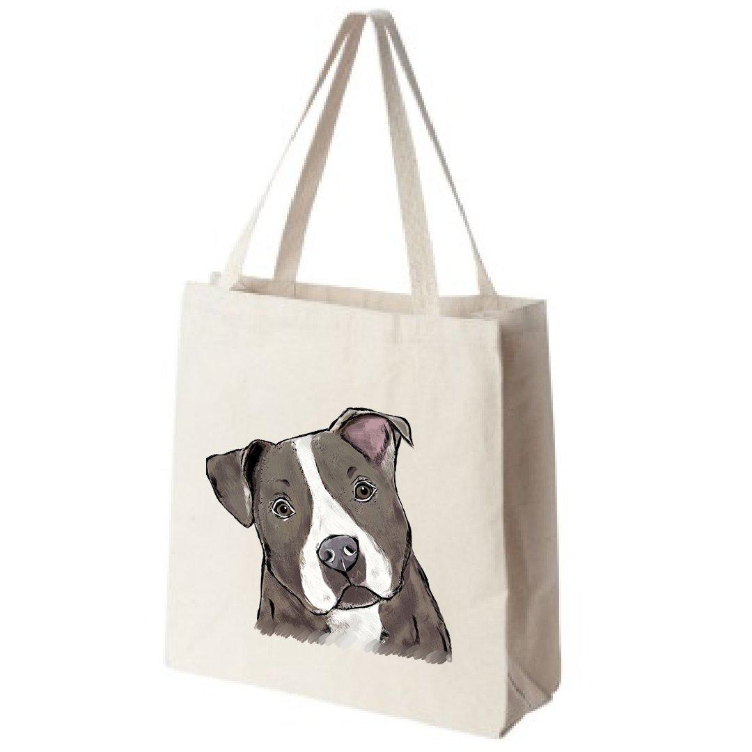 Pitbull dog designs Tote bag