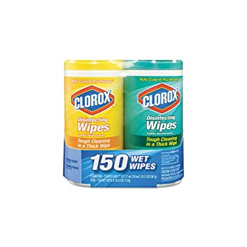 Clorox Company 01599 Disinfectant Wipes-2-Pack, 1 Citrus Blend and 1 Fresh