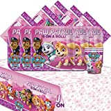 Amscan Paw Patrol Pink Girl's Children Birthday Complete Party Tableware Pack For 16 AMZKIT721