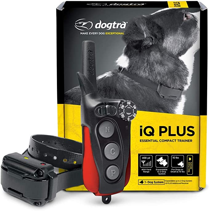 Dogtra IQ Mini Rechargeable Waterproof Mini Remote Dog Training E-Collar with Teachers Pet Dog Training Clicker for Positive Reinforcement