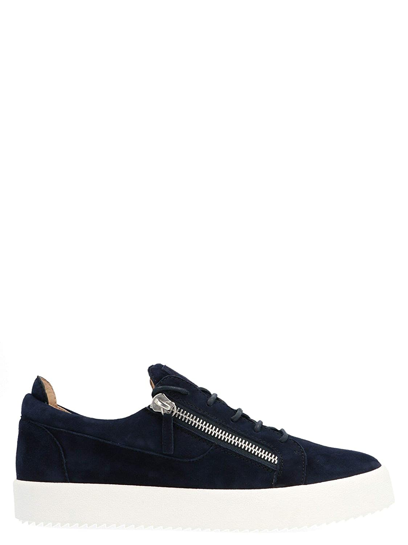 Giuseppe Zanotti Design RM90087006 - Hausschuhe de Piel para Hombre, Farbe Blau -