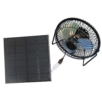 Solar Panel Solarmodul 4/'/' USB Mini Fan Lüfter Ventilator Hause Camping Reisen
