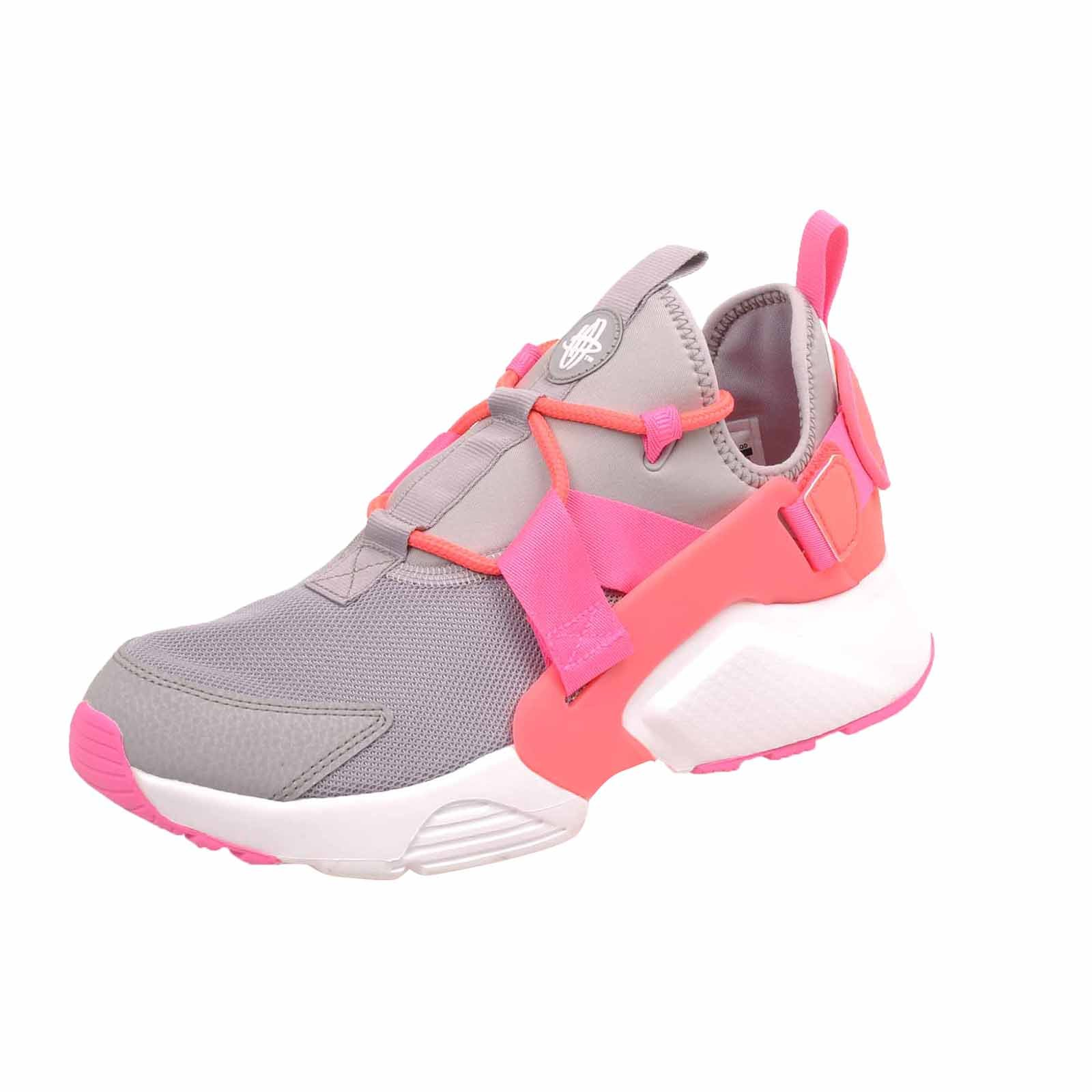 a4b2d1fa8f54 Galleon - Nike Women s Air Huarache City Low Running Shoes Atmosphere Grey  Hot Punch (8.5 B(M) US)