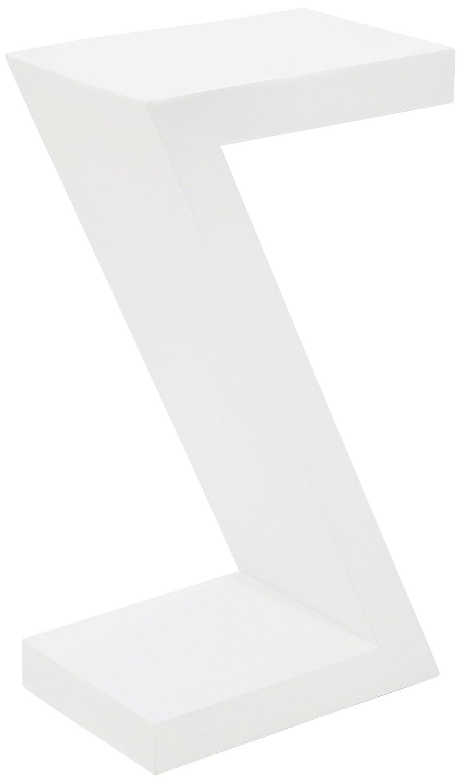 Kare 76092 Table d'appoint en Z Blanc