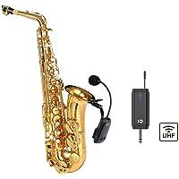 UHF - Micrófono inalámbrico para saxofón, con receptor de clip desmontable, universal para altavoz musical profesional…