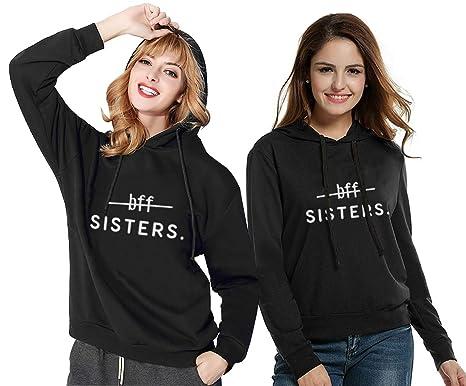 JWBBU Kapuzenpullis für Zwei Damen Freunde Sweatshirts