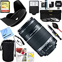 Canon EF-S 55-250mm f/4-5.6 IS II (Stabilized) Telephoto Lens (2044B002) + 64GB Ultimate Filter & Flash Photography Bundle