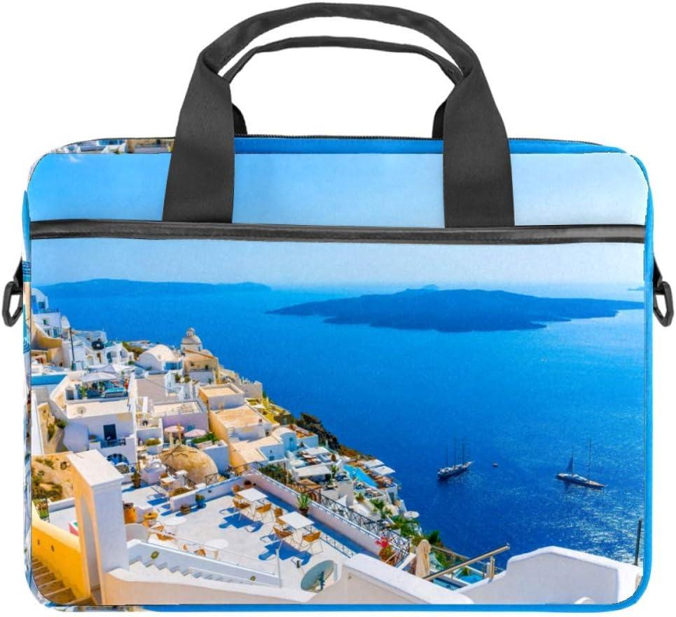 LORVIES Grecia Santorini Caldera (3) - Bolso bandolera para portátil de 14 a 15,4 pulgadas