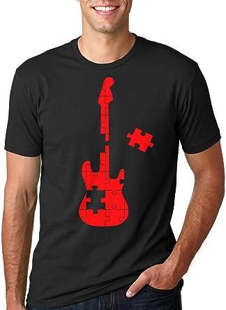 Silk Road Tees El Autismo Camiseta Puzzle Hombres de la Guitarra ...