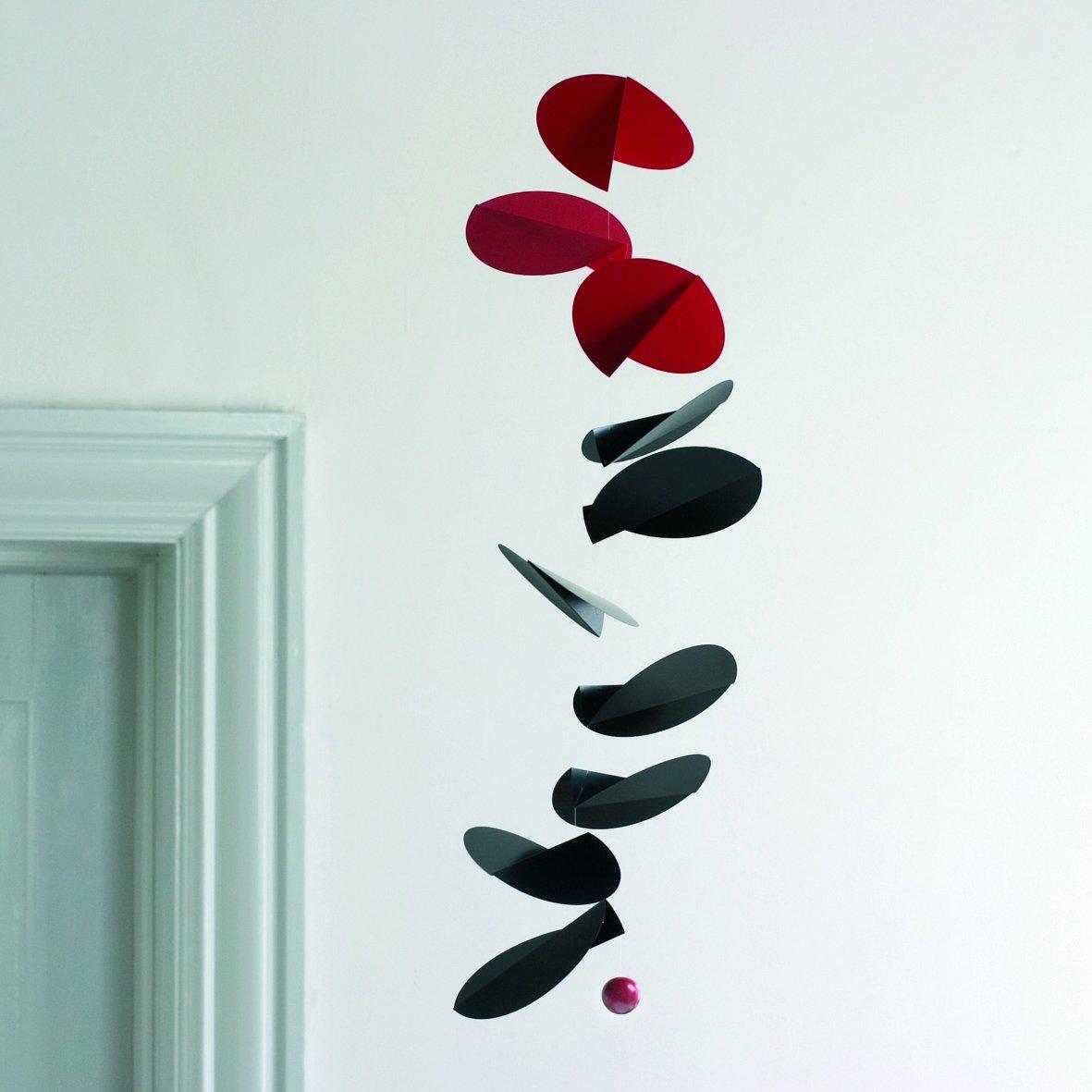 MOBILE DECORATION TURNING LEAVES rouge et noir FLENSTED