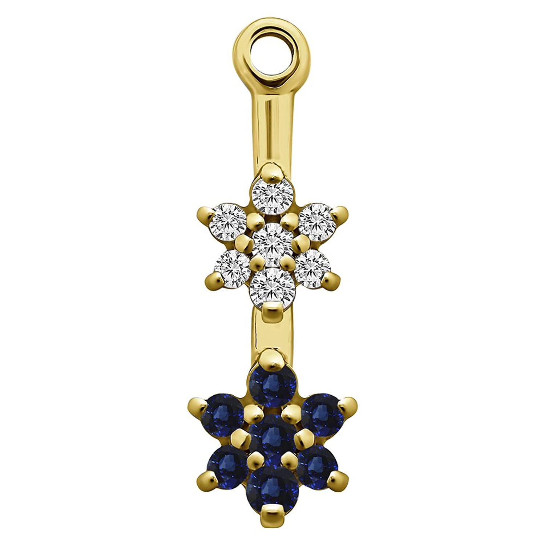 Amazon 1 5 ct Diamonds G H I2 I3 and Sapphire Genuine