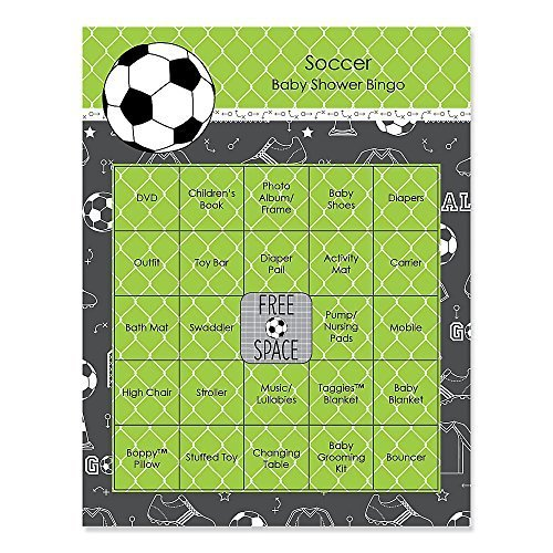Big Dot of Happiness GOAAAL! Soccer 16 Count Baby Shower Game Bingo Cards
