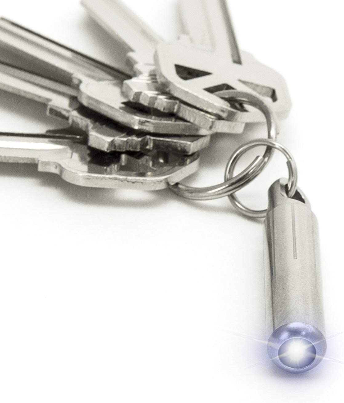 FREE Titanium Keychain Batteries INCLUDED Micro Flashlight 100 Lumens