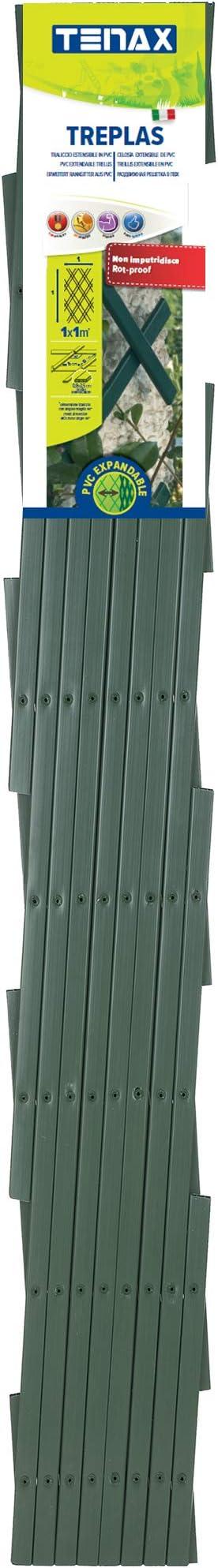 Trepls Rankgitter ausziehbar aus PVC 1,00x1 m gr/ün