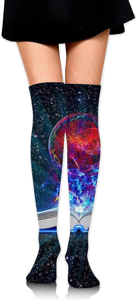 Kjaoi Girl Skirt Socks Uniform Magic Book Women Tube Socks Compression Socks