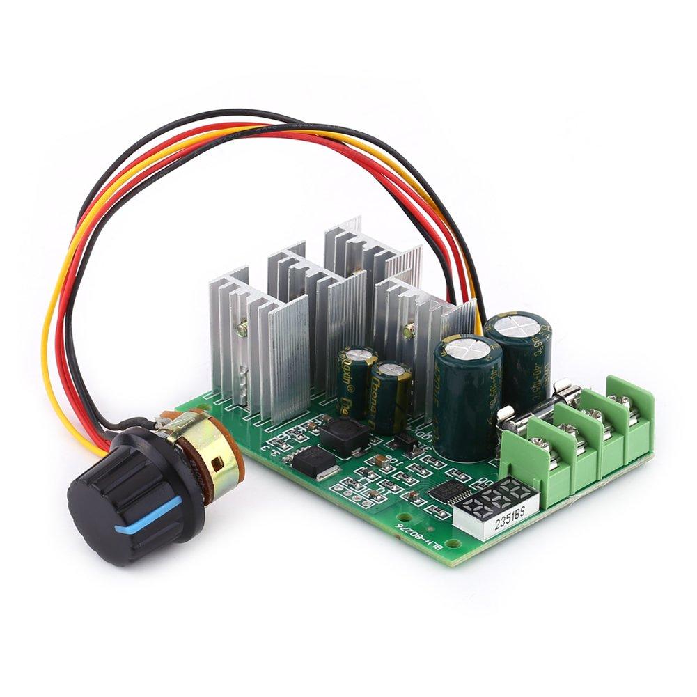 DC Motor Treiber Controller Schalter PWM DC 6V-60V 30A Motorregler mit Digitalanzeige