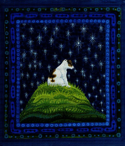 Art Needlepoint Dog Star Gazing Needlepoint Kit by Tina Close ()