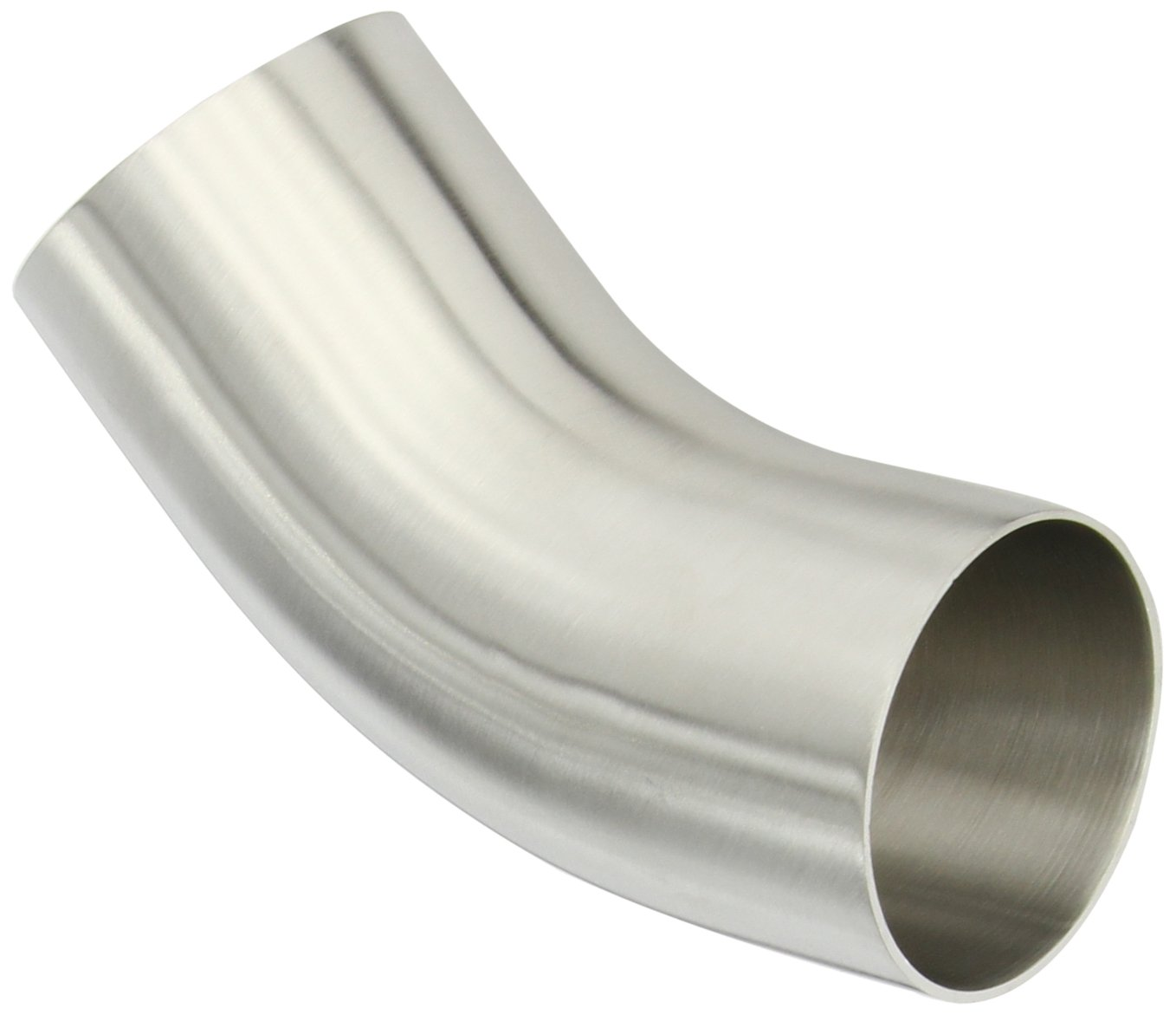 Dixon B2KS-G250P Stainless Steel 304 Sanitary Fitting, 45 Degree Polished Weld Long Elbow with Tangent, 2-1/2'' Tube OD