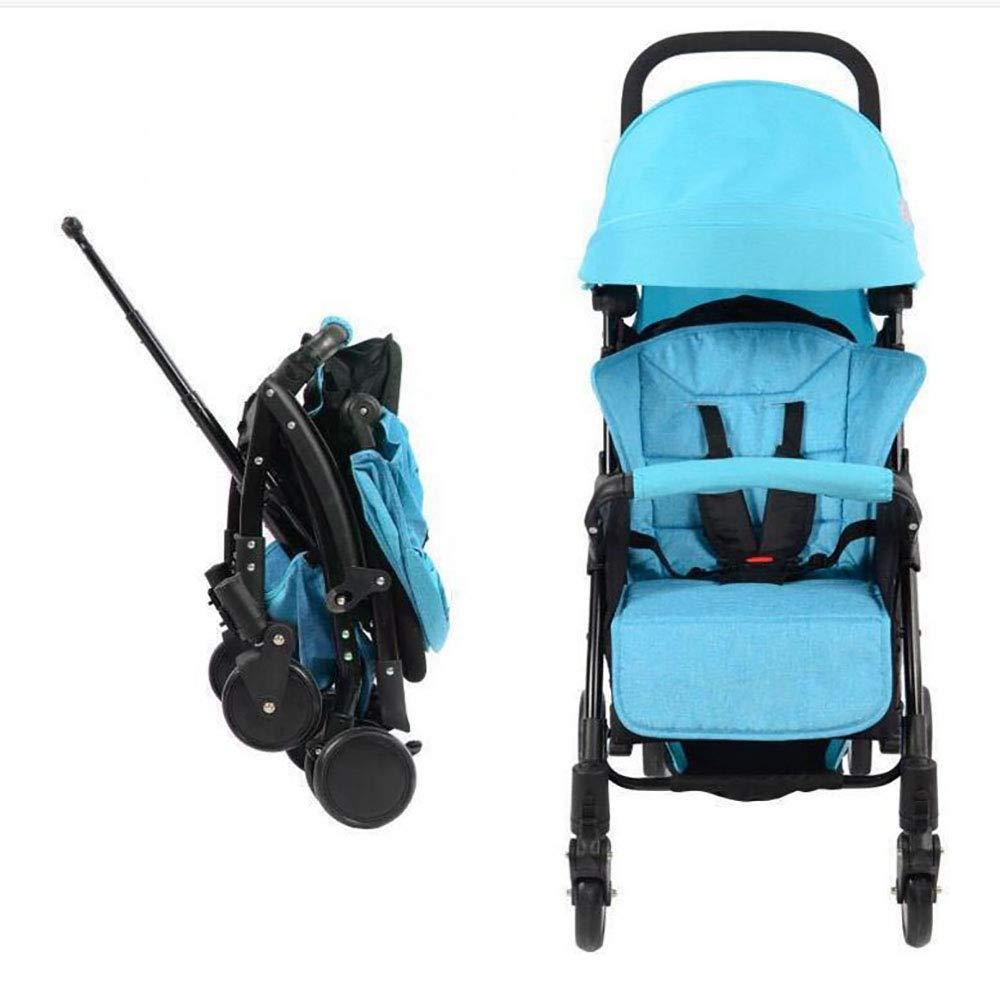 赤ん坊のトロリー、取り外し可能および折り畳み式、高い風景4輪のリクライニング、4色のベビーカー  Blue B07NW8C4QC