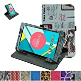 """Mama Mouth 360 Degree Rotating Stand With Cute Lovely Pattern Case for 8"""" Nextbook Ares 8 (NXA8QC116) / Nextbook Flexx 8 Windows 8.1 (NXW8QC132) / Nextbook 8 Windows 8.1 (Old Version NXW8QC16G) Tablet, Newspaper"""